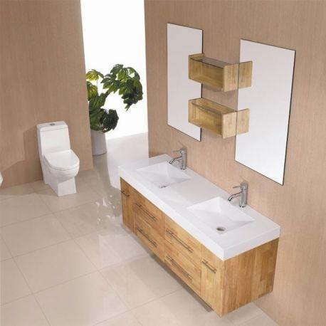 id e d coration salle de bain meuble de salle de bain double vasque bois naturel sd941bn. Black Bedroom Furniture Sets. Home Design Ideas