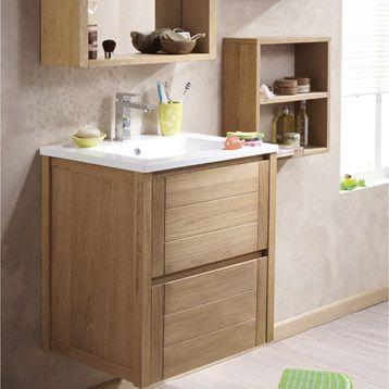 Id e d coration salle de bain meuble de salle de bains fjord marron - Meuble de salle de bain marron ...