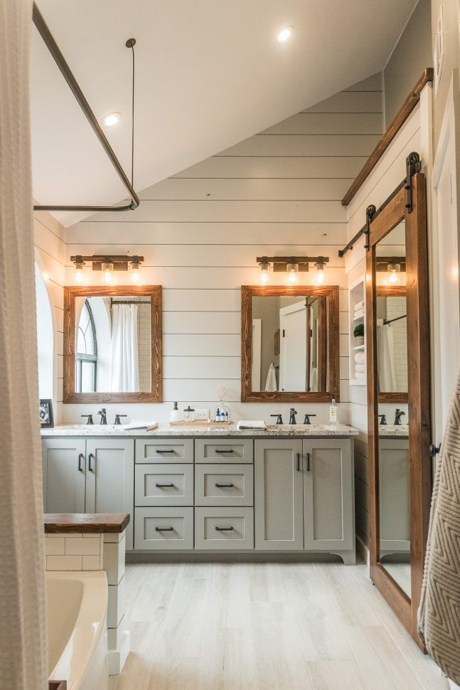 farmhouse bathroom lighting id 233 e d 233 coration salle de bain modern farmhouse bathroom 12819