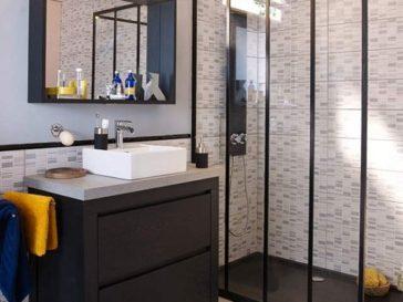 id e d coration salle de bain am nagement suite parentale salle de bain douche. Black Bedroom Furniture Sets. Home Design Ideas