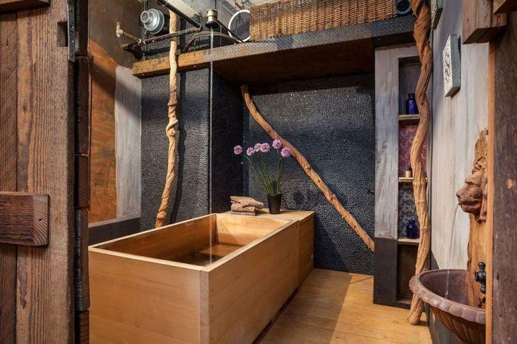 Id e d coration salle de bain salle de bain avec d co - Salle de bain style campagne ...