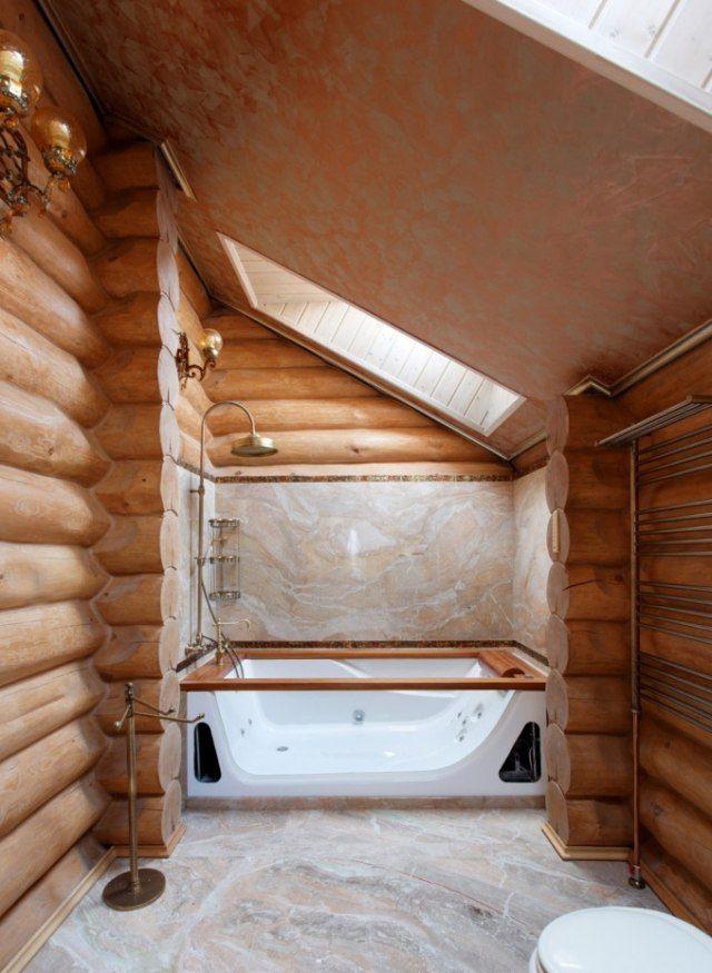 id e d coration salle de bain salle de bain bois rev tement de sol et mural imitation bois. Black Bedroom Furniture Sets. Home Design Ideas
