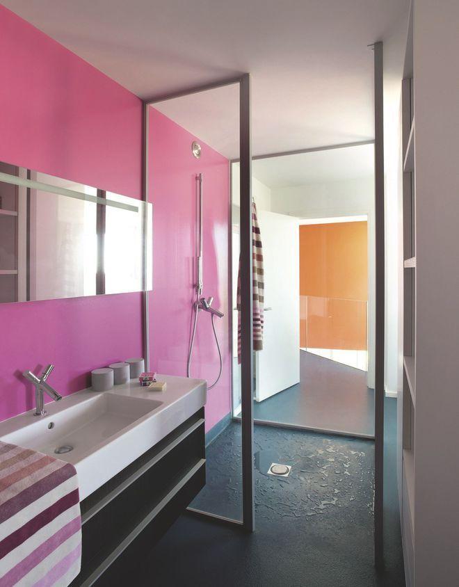 Idée décoration Salle de bain - Salle de bains en couloir ...