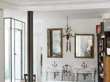 Id e d coration salle de bain id e de carrelage pour la - Idees deco de salle de bain au style tropical ...