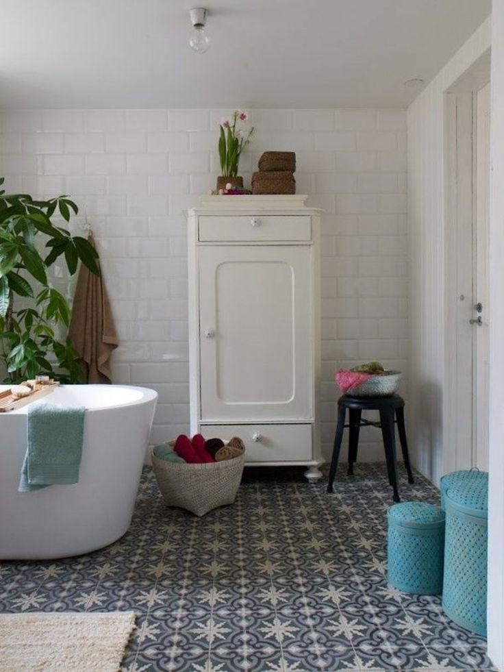 Idée décoration Salle de bain - Zellige marocain pour la ...