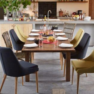 Salle manger chaise en h v a et fr ne vert esprit scandinave vert abby chaises table - Table de salon alinea ...