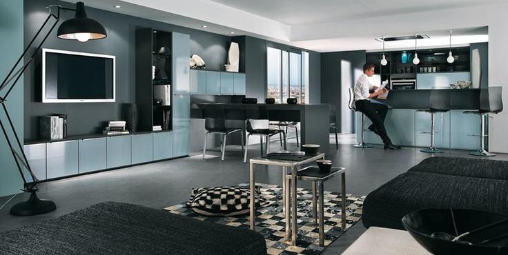 Cosy Moderne Et Sobre Le Salon Avec Cuisine Ouverte Mobalpa Leading