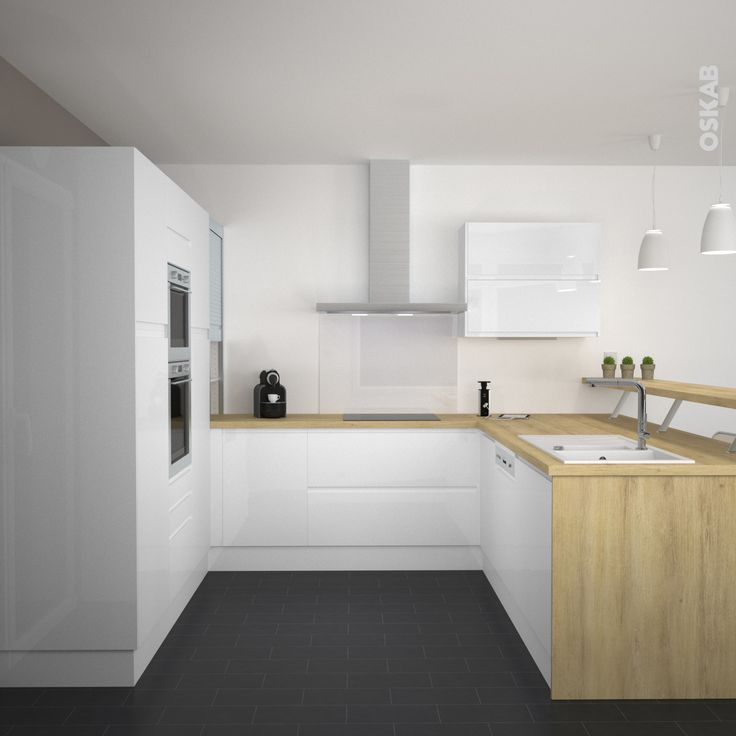 id e relooking cuisine cuisine ultra design et pur e total look blanc meubles blancs. Black Bedroom Furniture Sets. Home Design Ideas