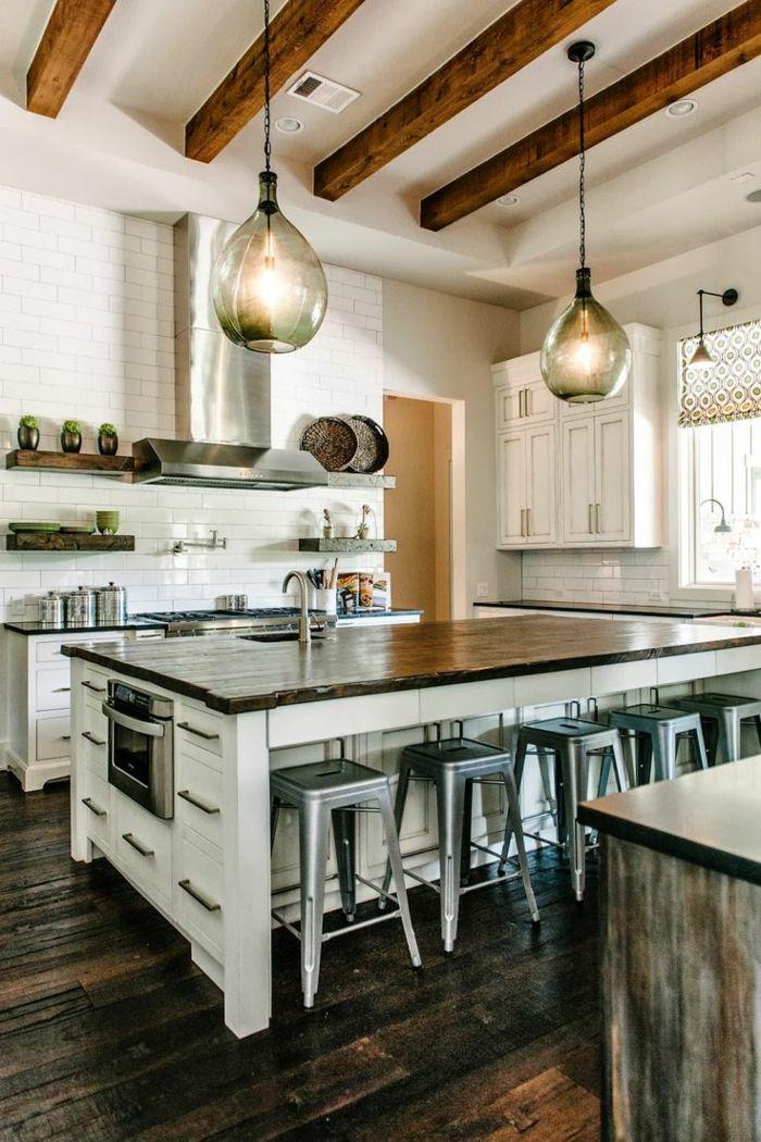 id e relooking cuisine la poutre en bois dans 50 photos. Black Bedroom Furniture Sets. Home Design Ideas