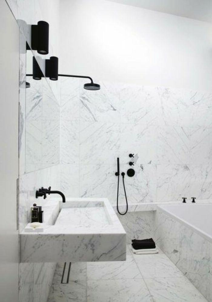 Idée relooking cuisine - modeles salles de bains en marbre ...