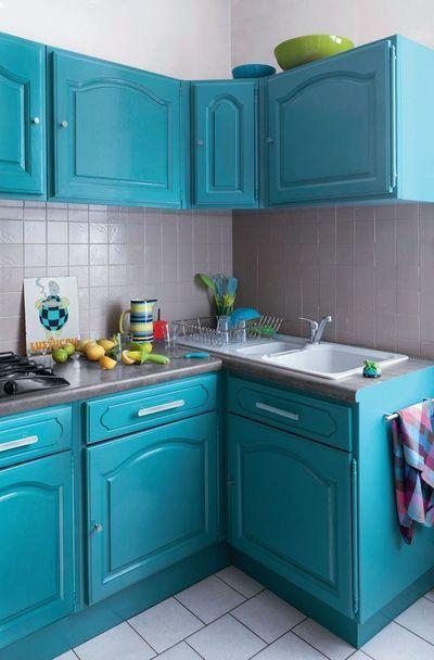 Id e relooking cuisine comment rajeunir une cuisine - Peinture gris perle pour cuisine ...
