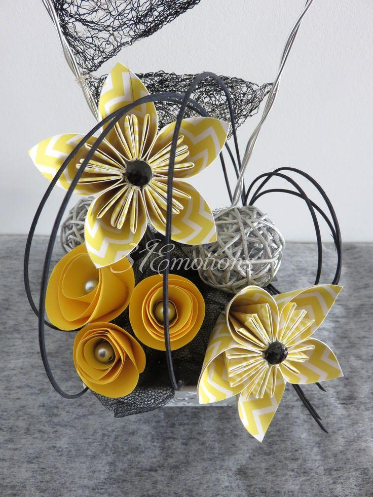 id es cadeaux pour la f te des m res 2017 composition florale fleurs kusudama en papier. Black Bedroom Furniture Sets. Home Design Ideas
