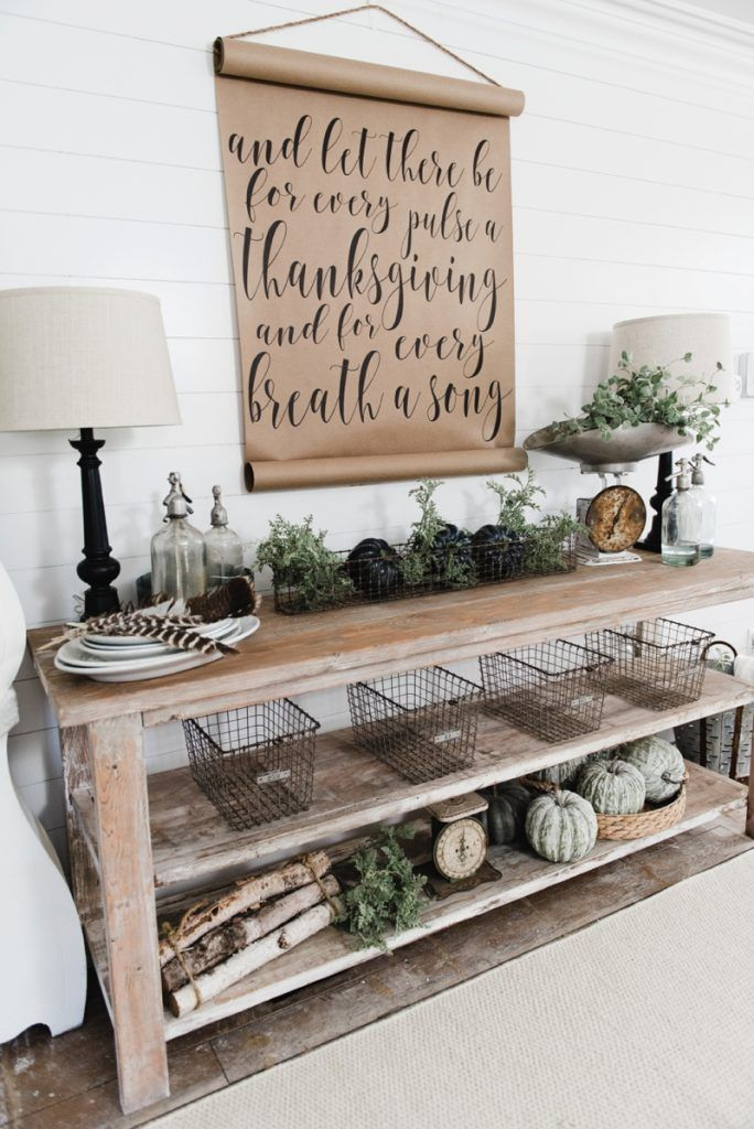 Description DIY Farmhouse Dining Room Buffet