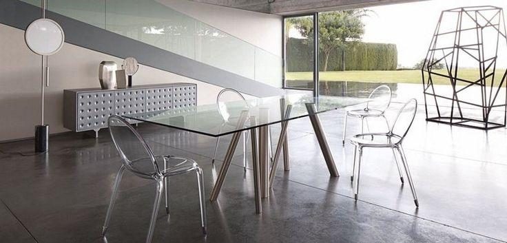 Meubles salle manger roche bobois table en verre et m tal et chaises acryli listspirit - Meuble roche bobois salle a manger ...