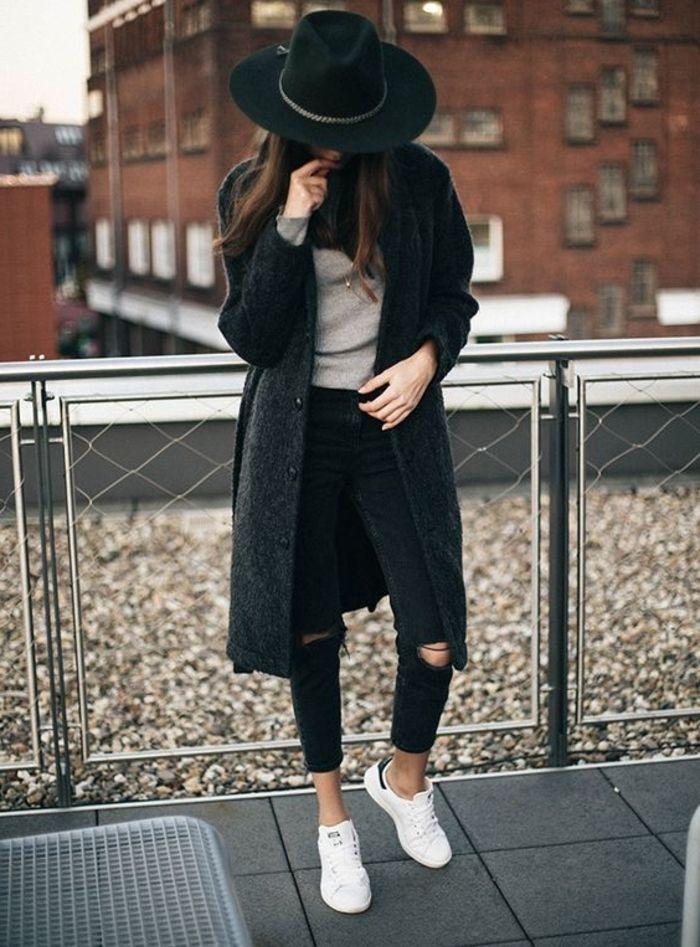 tendance basket 2017 basket chic femme pantalon noir d chir manteau noir stan smith fille. Black Bedroom Furniture Sets. Home Design Ideas