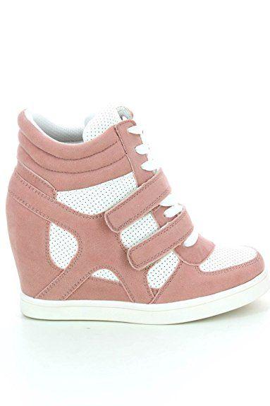 002f329d82406 Description. Baskets mode compensées bimatière urban – chaussures femme: ...
