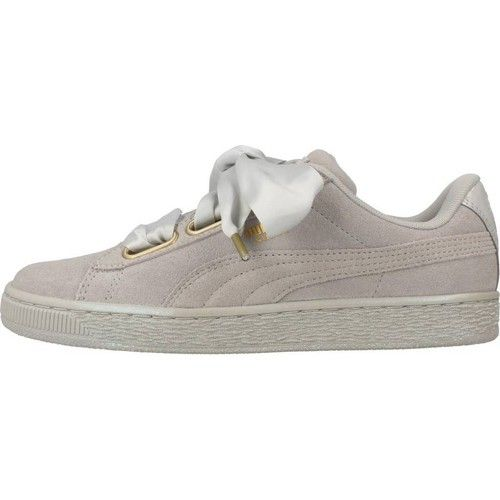 low priced 20ece bccb9 Description. Puma SUEDE HEART SATIN WNS Gris – Chaussures Baskets basses  Femme ...