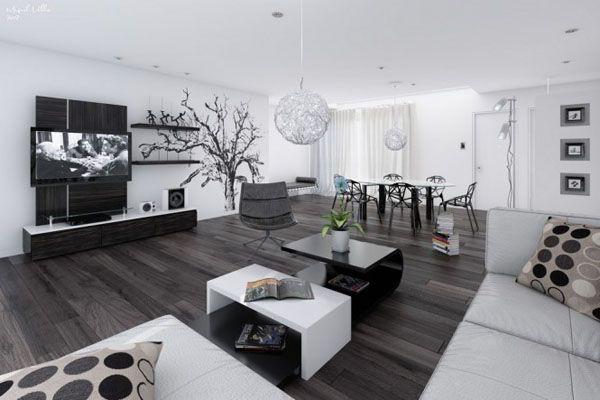 d co salon belle deco salon contemporain noir et blanc. Black Bedroom Furniture Sets. Home Design Ideas