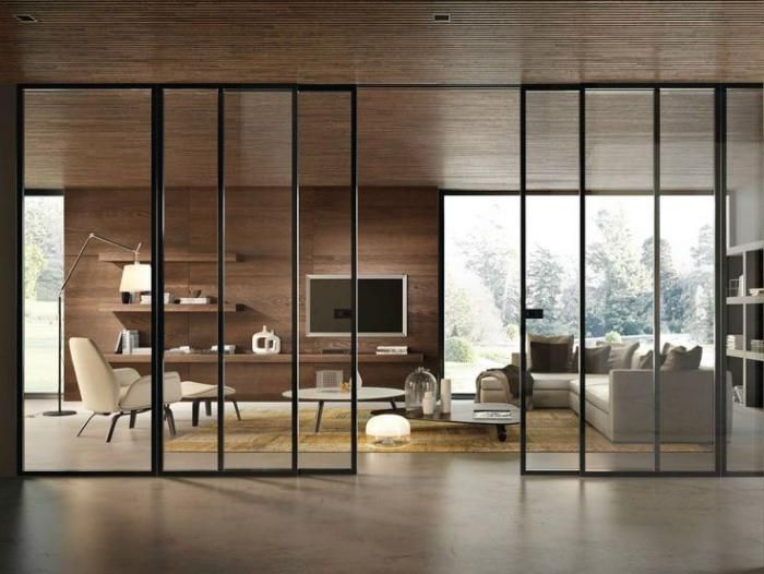d co salon porte coulissante en verre portes coulissantes pour le salon moderne. Black Bedroom Furniture Sets. Home Design Ideas