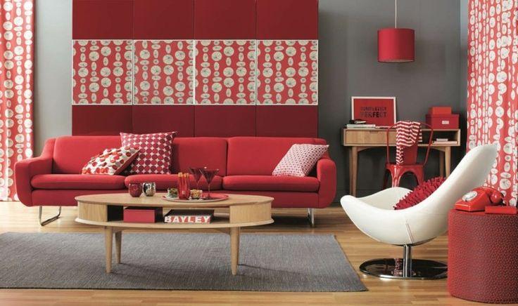 Déco Salon - salon design et intérieur avec couleur chaude ...