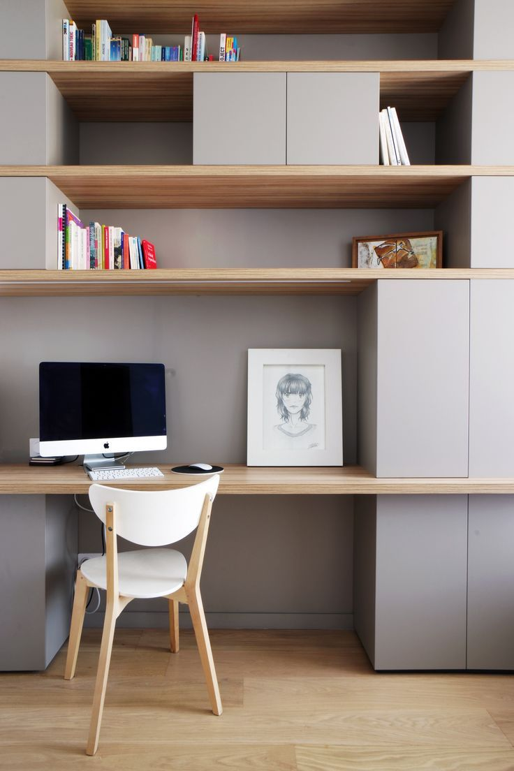 D co salon un bureau scandinave pur et pastel leading inspiration - Amenagement petit bureau ...