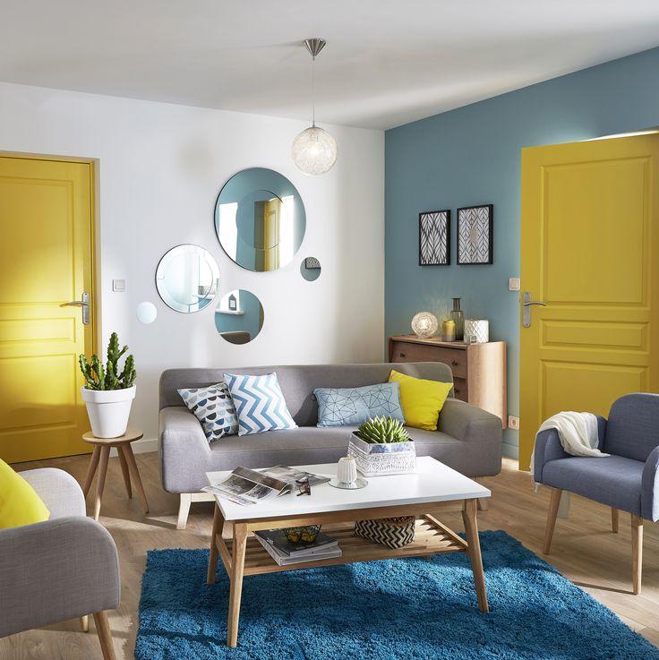 Mur Salon Bleu Canard Affordable Dco Bleu Canard Ides De Peinture