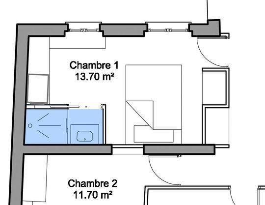 Id e d coration salle de bain 28 plans pour une petite for 2 chambres dans 50m2