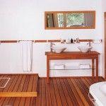 id e d coration salle de bain chaleureux le bois est cr ateur de douces ambiances lames d. Black Bedroom Furniture Sets. Home Design Ideas