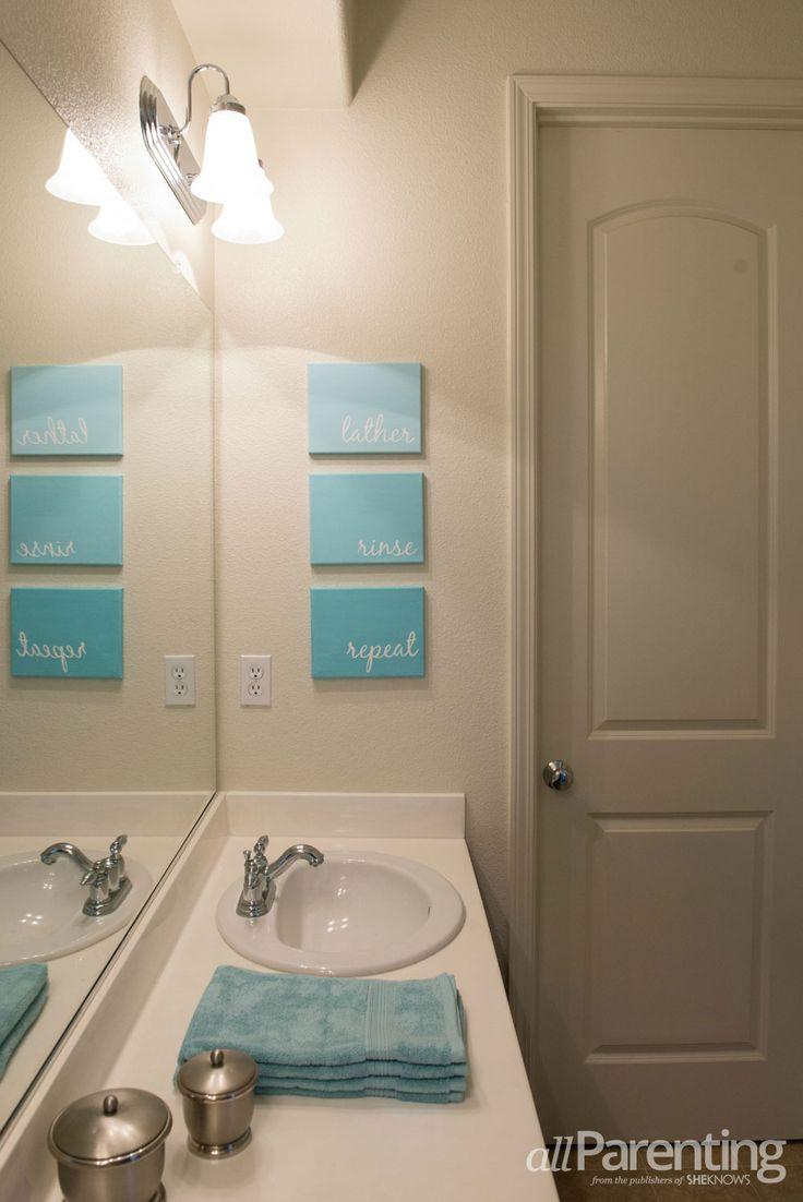 id e d coration salle de bain diy bathroom canvas art leading inspiration. Black Bedroom Furniture Sets. Home Design Ideas