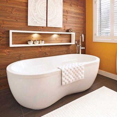 id e d coration salle de bain jeux de contrastes dans la. Black Bedroom Furniture Sets. Home Design Ideas