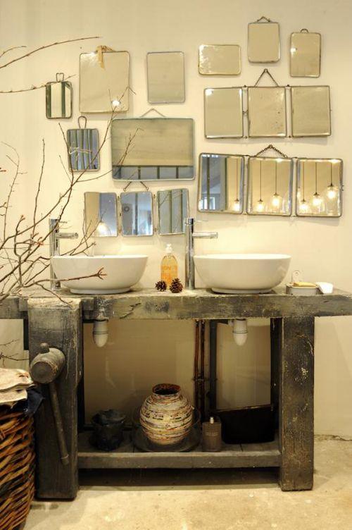 Idée Décoration Salle De Bain - Mélange De Style Dans Un Loft