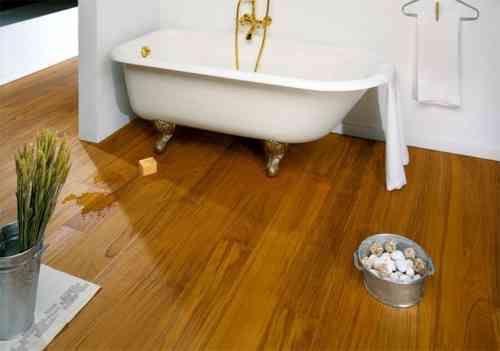 Id e d coration salle de bain parquet flottant pour sol for Idee deco salle de bain blanche