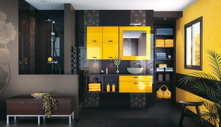 id e d coration salle de bain salle de bains jaune. Black Bedroom Furniture Sets. Home Design Ideas