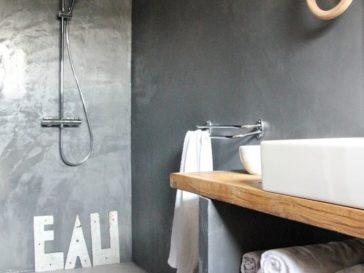 id e d coration salle de bain salle de bains stone ch ne huile et pierre naturelle de chez. Black Bedroom Furniture Sets. Home Design Ideas