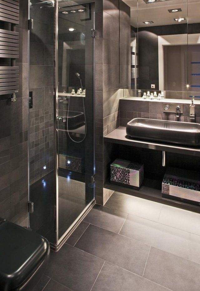 salle de bain italienne petite surface stunning mosaque grise dans une douche italienne with. Black Bedroom Furniture Sets. Home Design Ideas