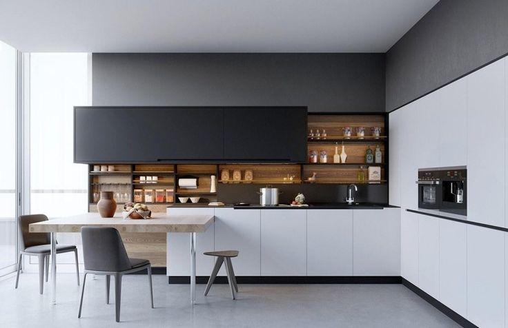 Idée relooking cuisine - Aménagement cuisine blanche, noire ...