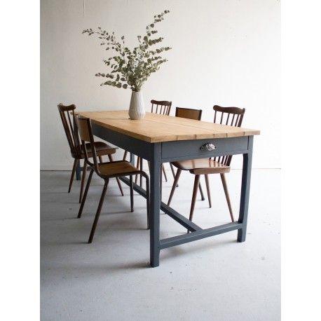 id e relooking cuisine table de ferme 6 8 personnes table ferme grande vintage home. Black Bedroom Furniture Sets. Home Design Ideas