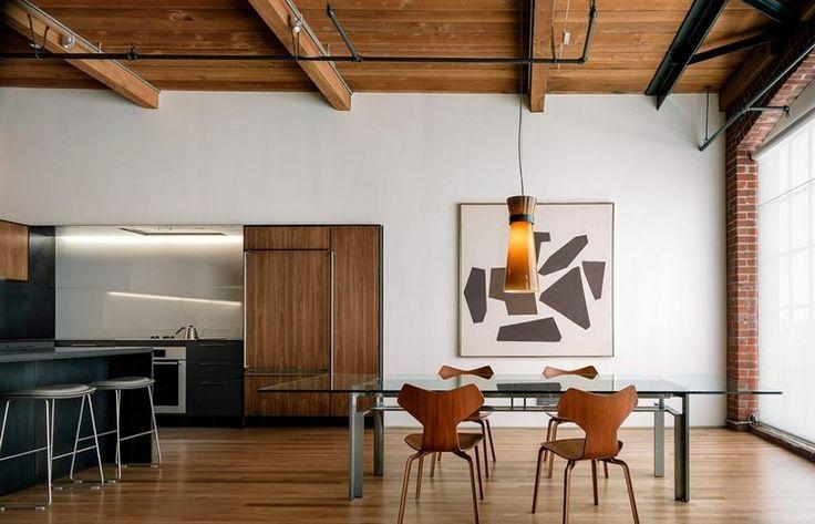 Salle à Manger Ambiance Bois Plafond Avec Poutres Apparentes