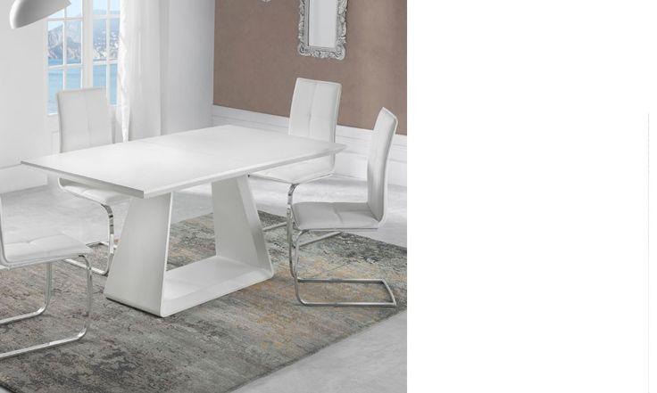 Salle manger table salle a manger extensible design for Table salle a manger blanc mat