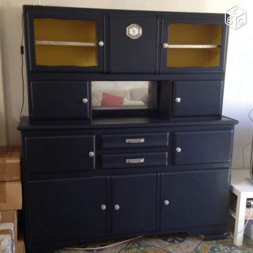 id e relooking cuisine buffet de cuisine 1950 mado bleu nuit ameublement loire atlantique. Black Bedroom Furniture Sets. Home Design Ideas
