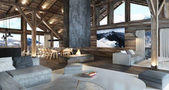 Idée relooking cuisine - Chalet de luxe avec 6 chambres, 6 salles de ...