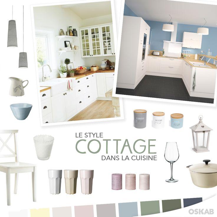 id e relooking cuisine d couvrez notre planche de tendance sur le style cottage pour recr er. Black Bedroom Furniture Sets. Home Design Ideas