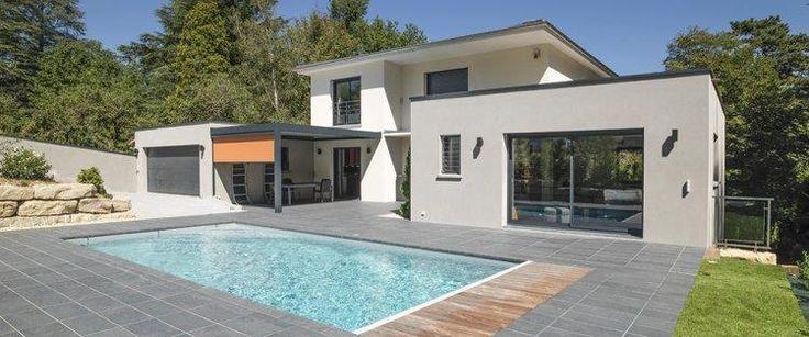 Id e relooking cuisine maison ossature bois for Photo maison avec piscine