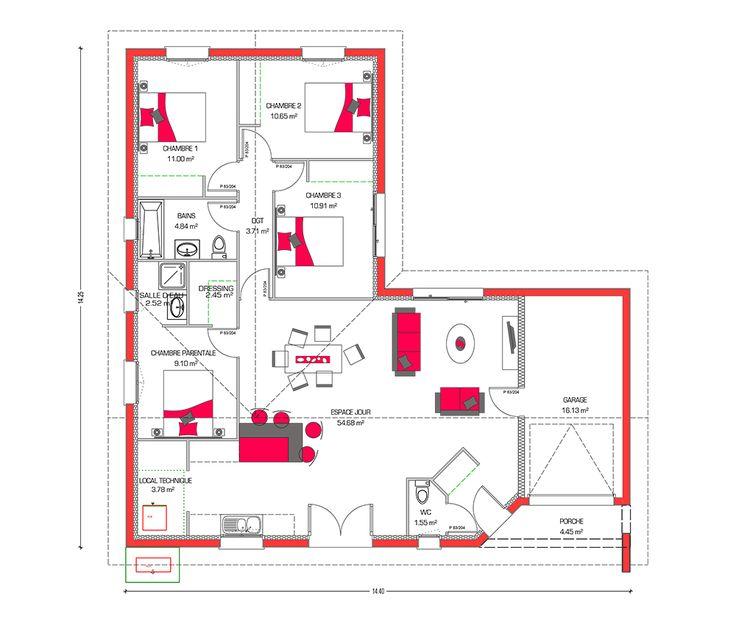 Ouleurs villa vous propose la villa mae moderne for Plan de villa en l
