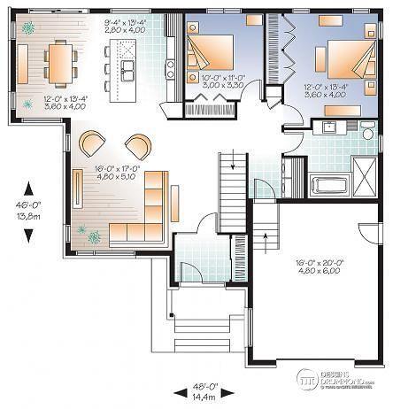 Id e relooking cuisine rez de chauss e mod le contemporain plan de maison moderne grand for Plan cuisine moderne