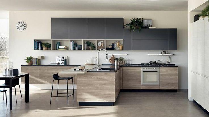 Description. Cuisine Ouverte Sur Salon Et Salle à Manger De Design Moderne