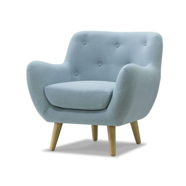 salle manger fauteuil esprit seventies en tissu bleu ciel bleu d 39 eau poppy meuble les. Black Bedroom Furniture Sets. Home Design Ideas