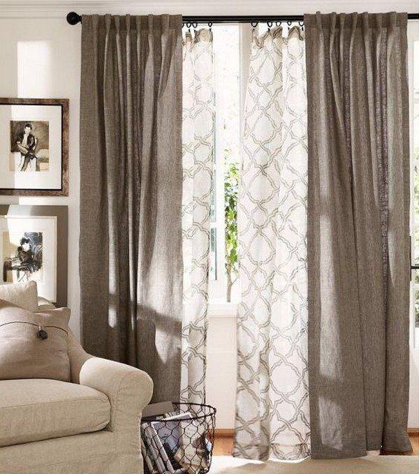 salle manger id es de d co profitez rideaux embellir espace 30 photos. Black Bedroom Furniture Sets. Home Design Ideas