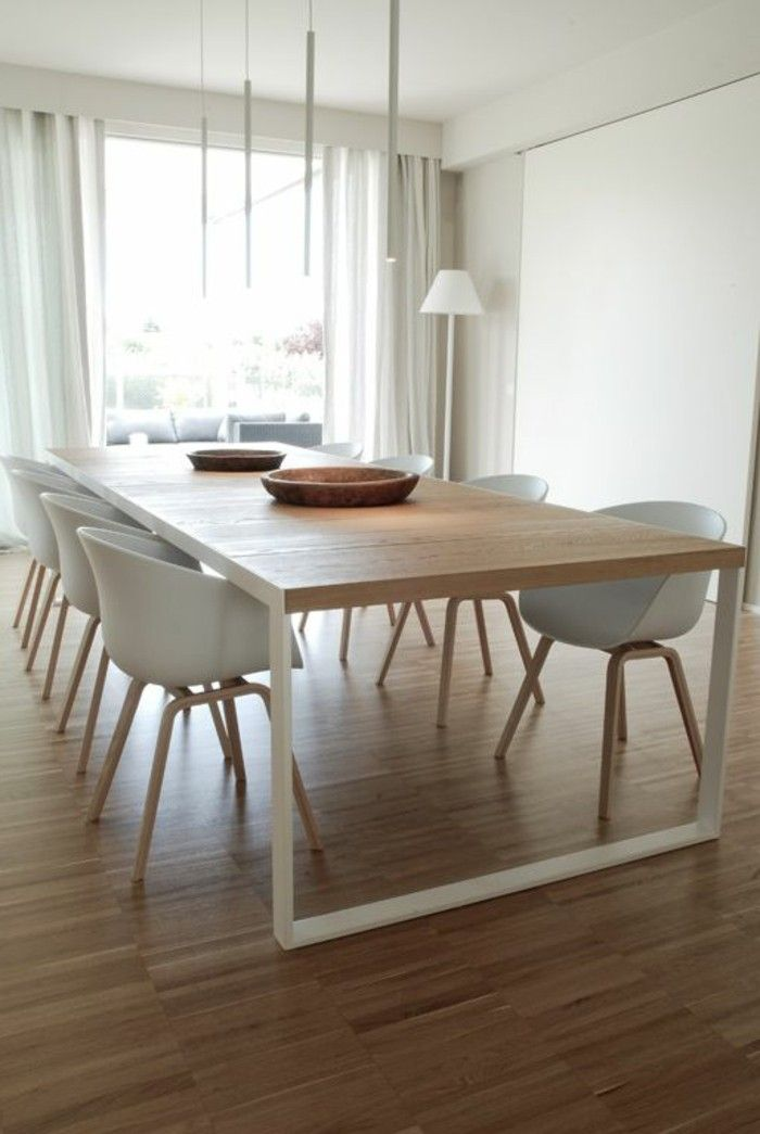 Best table de salle a manger moderne bois gallery for Table a manger chaises