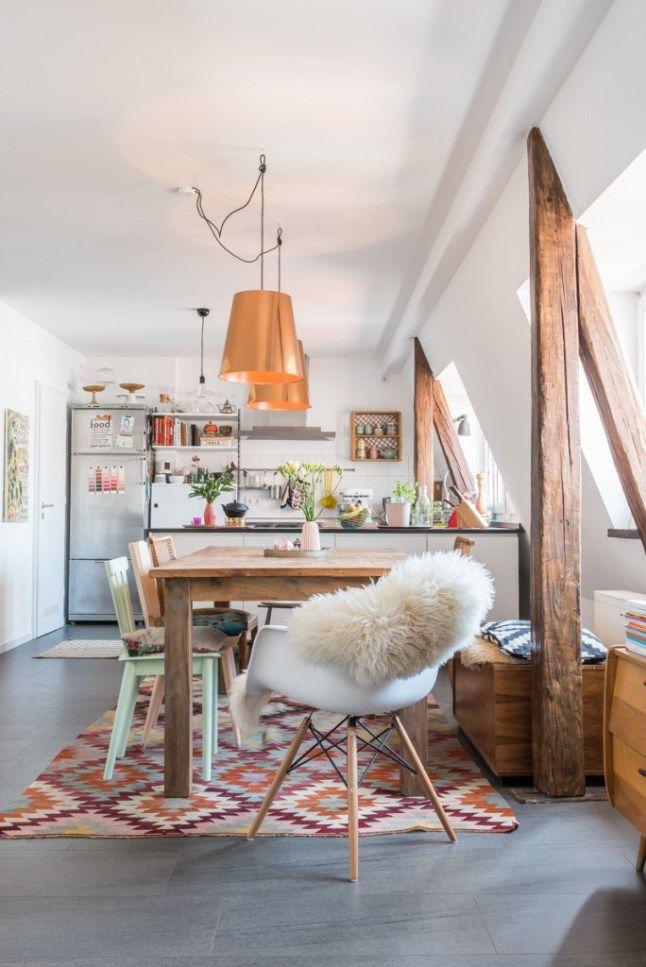 salle manger l 39 appartement boh me et color d 39 elisa et felix planete deco a homes. Black Bedroom Furniture Sets. Home Design Ideas